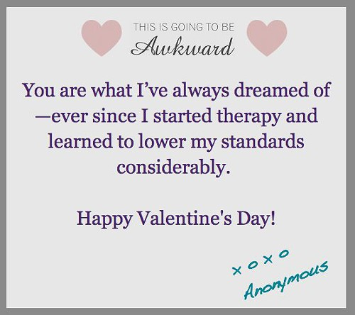 Awkward Valentines Day Cards Awkward List – Mean Valentine Cards