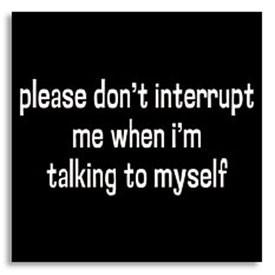 talking to self