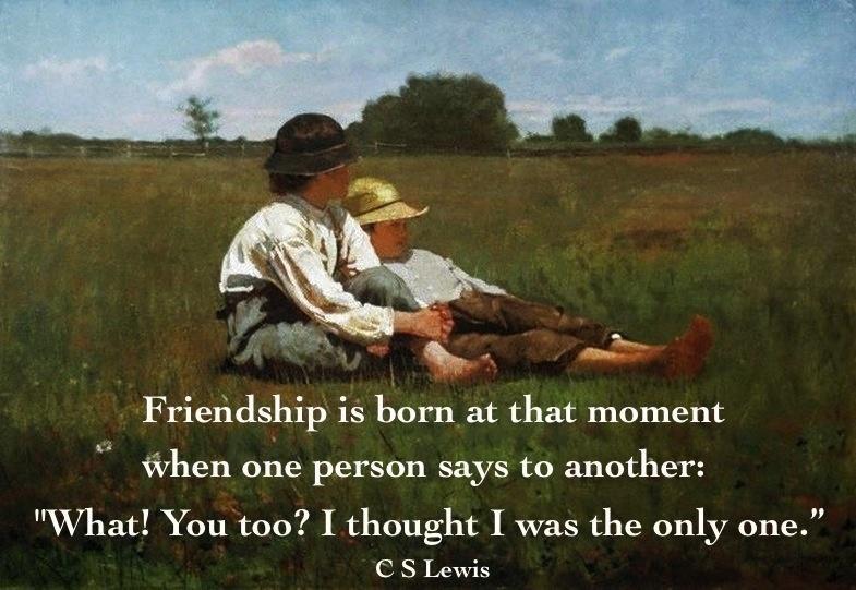We're friends!