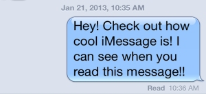 Read Receipt iMessage