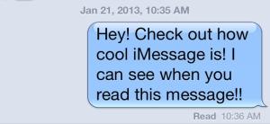 Read Receipt iMessage